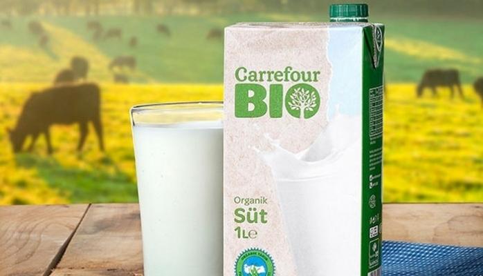 """Carrefour Bio Organik Süt"" Raflarda"
