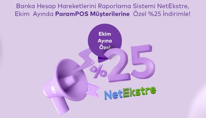 NetEkstre ParamPos'lulara Yüzde 25 İndirimli