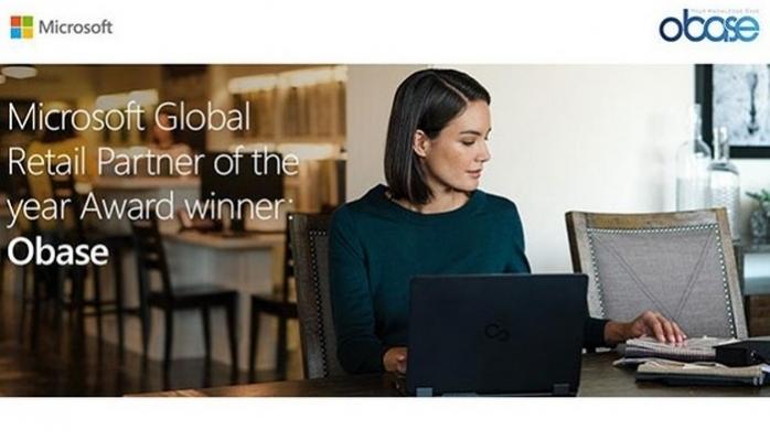 2019 Microsoft Yılın Perakende İş Ortağı Ödülü Obase'in