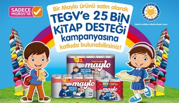 Migros ve Maylo'dan TEGV'e 25 Bin Kitap Bağışı